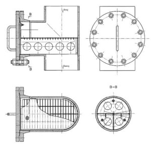 Фильтры пусковые тройниковые ФПТ Ду 80 – Ду 250 мм чертеж